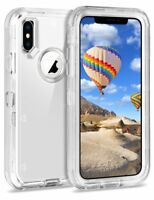 iPhone X/10 Case,Defender Case Transparent Clear Cover w/ Holster Fit Otterbox