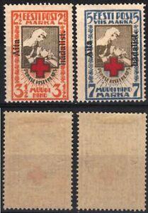 Estonia Estland Red Cross Aita Hadalist Viro Estonia MLH Stamps 1923