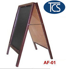 TCS Brown Wooden Frame with Black Board Display Sign