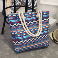 Fashion Women Canvas Shopper Handbag Shopping Summer Beach Shoulder Bag Tote New