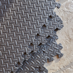 Foam Interlocking Floor Tiles Grey Yoga Play Mat Gym Exercise Fitness Soft EVA