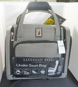 LONDON FOG Cambridge II 15-Inch 8 Wheel Under Seat Bag, Black White Houndstooth