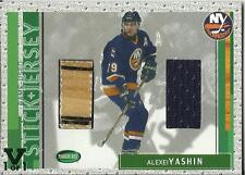 ITG Final Vault 2002-03 Parkhurst Stick and Jerseys #SJ-48 Alexei Yashin