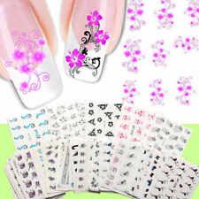 50Pcs/Set 3D Mixed Flower Nail Art Sticker Decals Tips Stickers Water Transfer