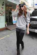 Women's Leopard Print Batwing Sleeve Casual Blouse T-Shirt Top