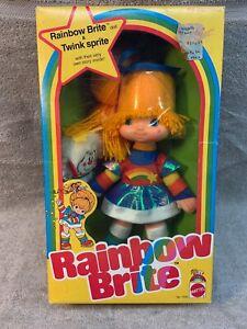 """Original Rainbow Brite 12"""" Doll & Twink Sprite NRFB ©1983 Hallmark/Mattel #7233"""