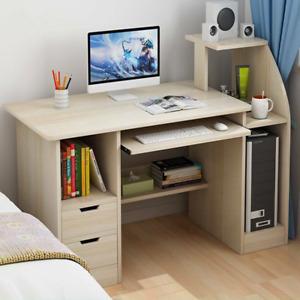Computertisch PC-Tisch Arbeitstisch mit Schubladen Schreibtisch Büromöbel DE