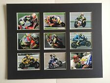 "VALENTINO ROSSI MOTO GP PICTURE MOUNTED 14"" By 11"" READY TO FRAME"