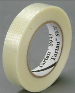 3M Filament Tape 8934 Clear, 12 mm x 55 m, Sealed Package of 18 Rolls, FREE SHIP