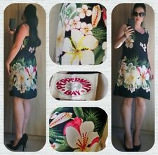 Quality 90s vintage PEPPERMINT BAY tropical floral print beaded sequin dress
