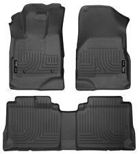 10 - 12 Chevy Equinox WeatherBeater Floor Mats Liners - Husky Black Front & Rear
