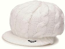 ROXY Women's SWEET DREAM Visor Beanie - WHT - One Size - NWT