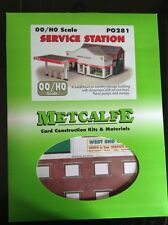 Metcalfe PO281.  Service Station - Ready Cut Card Kit. OO Scale.