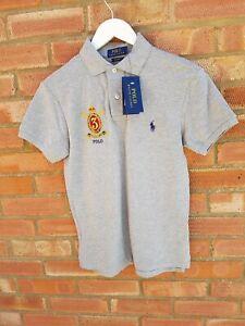 Polo Ralph Lauren Mens Custom Grey Crest Polo Shirt - New/Tags - XS - RRP: £120
