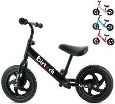 Birtech Laufrad Kinder ab 1 2 3 4 Jahre Balance Fahrrad 12 Zoll  (Schwarz)