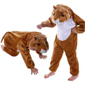 Halloween Party Costumes Children Kids Animal Lion Costume Jumpsuit for Boy Girl