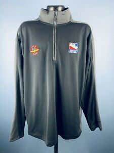 Men's Nike Indianapolis Motor Speedway Radio Network Poly 1/4 Zip Pullover XL