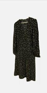 Nobody's Child Black/White Cosmic Star Midi Dress - RRP £39 - Unused - Size 14
