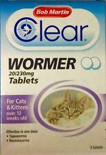 Bob Martin Clear Wormer comprimidos para gatos y gatitos