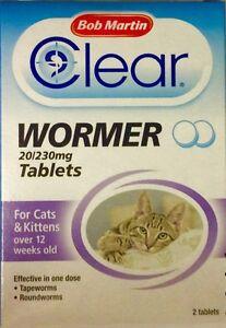 Bob Martin klar Würmer Tabletten für Katzen und Kätzchen