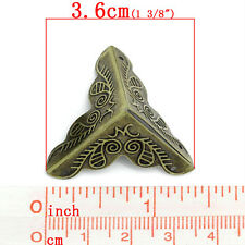 30pc Vintage metal Bronze Tone Corner Bracket for Furniture Box Corner Protect
