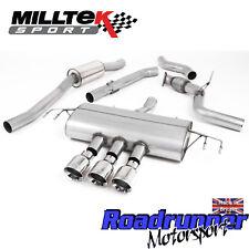 "Milltek Civic Type R FK8 Cat Back Exhaust 3"" ROAD+ Polish GT100 Trims SSXHO247"