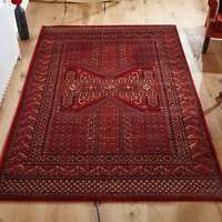 Traditional Oriental Design Rug High Quality Living Room Red Rug 100% Wool Rugs