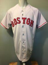 Boston Red Sox Road Grey Jersey Mens M Blank Sewn Letters Baseball Uniform Shirt