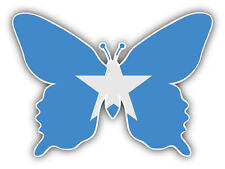 Somalia Flag Butterfly Car Bumper Sticker Decal 5'' x 4''