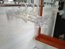 3pc Plastic Pearl Bow Pants Trousers Skirt Clothes Hanger For Children Kid
