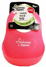 Tommee Tippee Essentials Comfi Neck Catch All Bib 3 Colours Age 6m BPA Blue