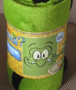 NEW Swampy Gator Alligator Fleece Throw Gift Blanket Disney Cartoon Crocodile