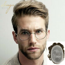 Full Poly Thin Skin Mens Toupee Hair Replacement Natural Hairline Hairpieces