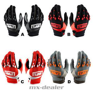 100% Percent Airmatic Gloves Black Orange MTB Dh MX Motocross Enduro Quad