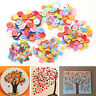 100 PCS 4 Holes 5 Sizes Round Buttons Clothing Sewing DIY Craft for Kids TB