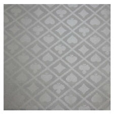 3 Yard POKER TABLE SUITED SPEED WATERPROOF CLOTH Silver Color 108 x 60 INCH