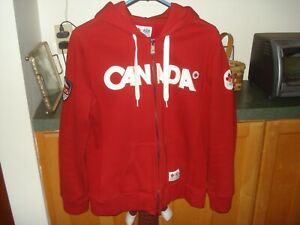 Canada 2010 Olympics Hudson's Bay Zip Up Jacket Hoodie Red ~ Size Women's LARGE