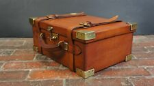 Leather & Cast Brass Cartridge Case By Purdey