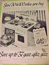 Nouvelle annonce American Gas Assoc Brazil Nuts The American Home Ad 12 1/2 x 9 1/2 Nov 1949