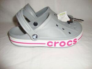 New Unisex 205089-0FS Crocs Bayaband Clog Sandals Size Men 6 Women 8 - Grey