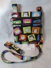 Peanuts Theme Fabric Crossbody Bag w/adj strap