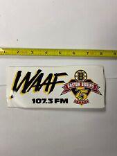 Boston Bruins WAAF sticker promo Rare