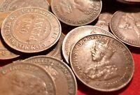 Australian KGV Pennies. Pre Decimal Coins. x5