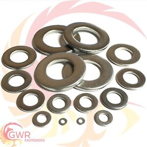 FORM A A2 STAINLESS STEEL FLAT WASHERS TO SUIT METRIC SCREWS & BOLTS M1.6 TO M16