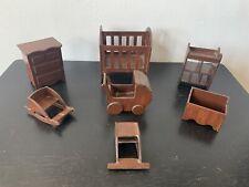 dollhouse furniture 1:12 Wooden, 7-piece Nursery Set