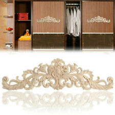 Wooden Carved Applique Furniture Unpainted Mouldings Decal Onlay Home DIY Decor