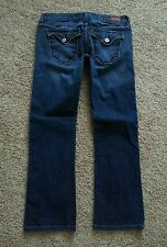 "GUESS PREMIUM DENIM Women's Jeans FLAP Pocket CAPRI CROP Stretch LOW sz 28 30"" W"