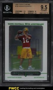 2005 Topps Chrome Aaron Rodgers ROOKIE RC #190 BGS 9.5 GEM MINT