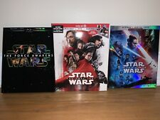 Star Wars Trilogy Force Awakens Last Jedi Rise of Skywalker Blu Ray and DVD Set