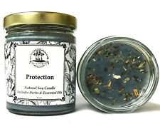 Protection 6 oz Soy Candle Spells Evil Attacks Hoodoo Voodoo Wicca Pagan Conjure